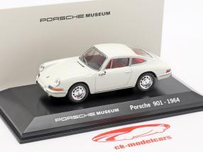 Porsche 901 Jaar 1964 wit Porsche Museum Editie 1:43 Welly