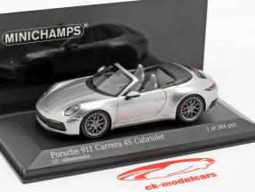 Porsche 911 (992) Carrera 4S Cabriolet año de construcción 2019 plata 1:43 Minichamps