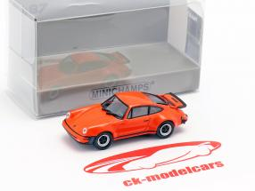 Porsche 911 Turbo (930) year 1977 orange 1:87 Minichamps