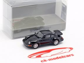 Porsche 911 Turbo (964) año de construcción 1990 negro 1:87 Minichamps