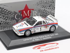 Lancia 037 #1 vincitore Rallye Monte Carlo 1983 Röhrl, Geistdörfer 1:43 CMR