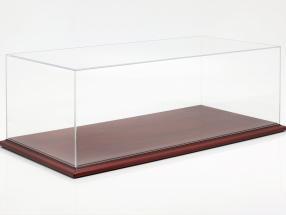 qualità acrilico vetrina Molsheim con mogano colore legno base 1:8 Atlantic
