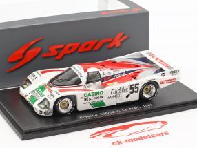 Porsche 962C #55 24h LeMans 1986 Alliot, Romero, Trolle 1:43 Spark