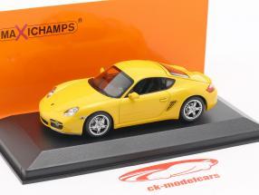 Porsche Cayman S (987c) year 2005 yellow 1:43 Minichamps