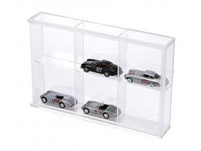Kleinvitrine aus Acryl-Glas 6 Fächer 180 x 115 x 30 mm SAFE