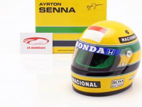 Ayrton Senna McLaren MP4/5B #27 campeão do mundo fórmula 1 1990 capacete 1:2