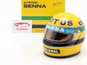 Ayrton Senna Lotus 99T #12 formule 1 1987 casque 1:2
