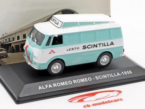 Alfa Romeo Romeo van Scintilla turquesa / branco 1:43 Altaya