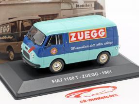 Fiat 1100 T furgoneta Zuegg año de construcción 1961 turquesa / azul 1:43 Altaya