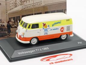 Volkswagen VW T1c bus année de construction 1965 blanc / orange / jaune 1:43 Altaya