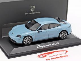 Porsche Taycan 4S year 2019 frozen blue metallic 1:43 minichamps