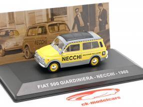 Fiat 500 Giardiniera Necchi anno di costruzione 1960 giallo / grigio 1:43 Altaya