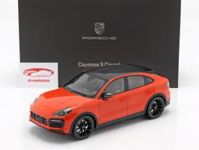 Porsche Cayenne S Coupe Opførselsår 2019 lava appelsin 1:18 Norev