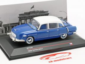 Tatra 603/1 año de construcción 1958 azul metálico / blanco 1:43 Ixo