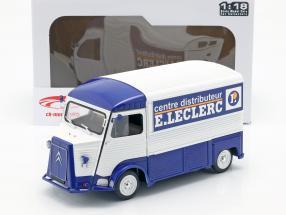 Citroen type H  E. LECLERC année de construction 1969 bleu / blanc 1:18 Solido