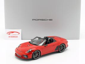 Porsche 911 (991 II) Speedster Concept 2019 guards red with showcase 1:18 Spark