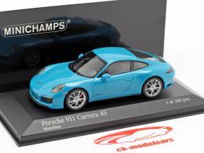 Porsche 911 (991 II) Carrera 4S Baujahr 2016 miami blau 1:43 Minichamps