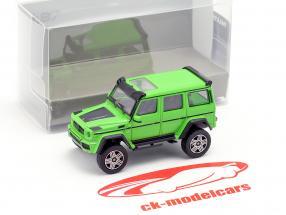 Brabus 4x4² based on Mercedes-Benz G500 4x4² year 2016 green 1:87 Minichamps
