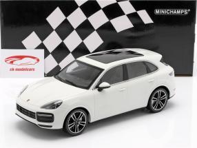 Porsche Cayenne Turbo S Bouwjaar 2017 wit 1:18 Minichamps