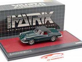 Ferrari 400 Superamericana Pininfarina cabriolet fermé haut 1959 vert 1:43 Matrix