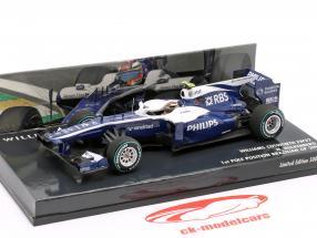 Nico Hülkenberg Williams FW32 #10 1st Pole position brasiliansk GP 1:43 Minichamps