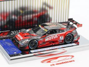 Nissan GT-R #1 mester Super GT500 Series 2015 Matsuda, Quintarelli 1:43 Ebbro
