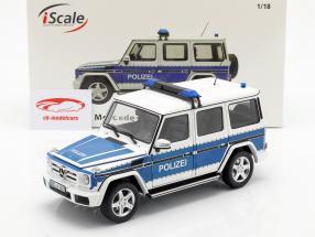 Mercedes-Benz G级 (W463) 2015 警察 1:18 iScale