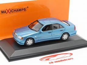 Mercedes-Benz Classe C (W202) anno di costruzione 1997 blu metallico 1:43 Minichamps