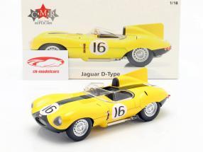 Jaguar D-Type #16 cuarto 24h LeMans 1957 Frere, Rousselle 1:18 CMR