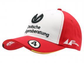 Mick Schumacher Cap #4 fórmula 3 campeão 2018 vermelho / branco
