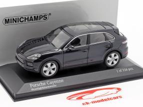 Porsche Cayenne année de construction 2017 bleu foncé métallique 1:43 Minichamps