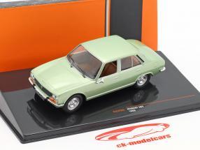 Peugeot 504 ano de construção 1969 verde metálico 1:43 Ixo