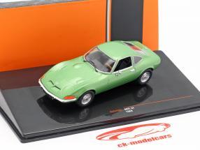 Opel GT ano de construção 1969 verde metálico 1:43 Ixo