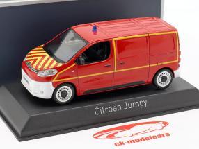 Citroen Jumpy van bombeiros ano de construção 2016 vermelho / amarelo 1:43 Norev