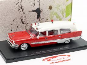 De Soto Firesweep Memphian Ambulance ano de construção 1957 vermelho / branco 1:43 AutoCult