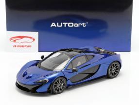 McLaren P1 Bouwjaar 2013 azuur blauw 1:18 AUTOart