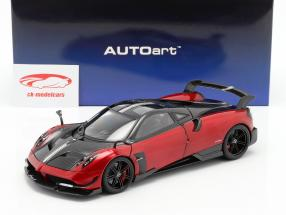Pagani Huayra BC Bouwjaar 2016 Dubai rood / carbon 1:18 AUTOart