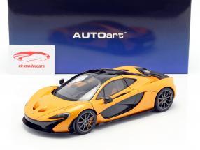 McLaren P1 ano de construção 2013 papaya spark 1:18 AUTOart