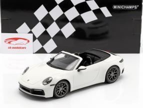 Porsche 911 (992) Carrera 4S Cabriolet Baujahr 2019 weiß 1:18 Minichamps