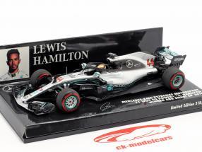 L. Hamilton Mercedes-AMG F1 W09 #44 Weltmeister Abu Dhabi GP F1 2018 1:43 Minichamps
