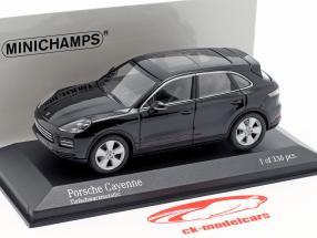 Porsche Cayenne año de construcción 2017 negro profundo metálico 1:43 Minichamps