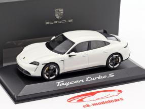 Porsche Taycan Turbo S Bouwjaar 2019 carrara wit 1:43 Minichamps