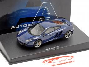 McLaren MP4-12C Année 2011 bleu métallique 1:43 AUTOart