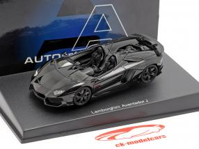 Lamborghini Aventador J Roadster Année 2012 noir 1:43 AUTOart