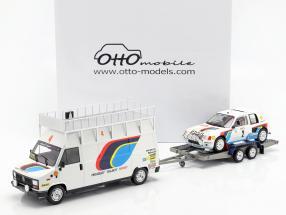 3-Car Set ganador Rallye Monte Carlo 1985 Peugeot Talbot Sport 1:18 OttOmobile