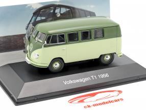 Volkswagen VW Bulli T1 Opførselsår 1956 lys grøn / grøn 1:43 Altaya