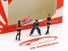 LB-Works Mr. Kato & Show Girls cifras Set 1:64 TrueScale