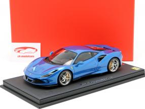 Ferrari F8 Tribute Genfer Autosalon 2019 corsa blau metallic 1:18 BBR