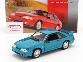 Ford Mustang Cobra Baujahr 1993 blaugrün 1:18 GMP