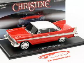 Plymouth Fury 1958 Evil Version Film Christine (1983) rot / weiß / dunkle Fenster 1:43 Greenlight